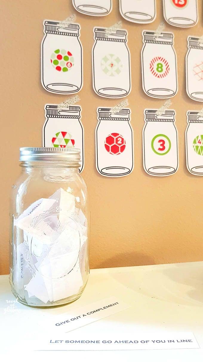 Mason Jar Acts Of Kindness Advent Calendar Design Dazzle