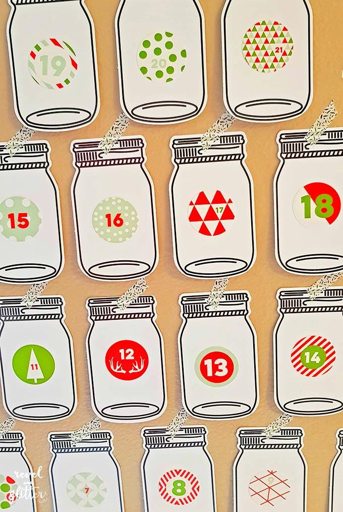 Diy Kindness Calendar : Mason jar acts of kindness advent calendar design dazzle