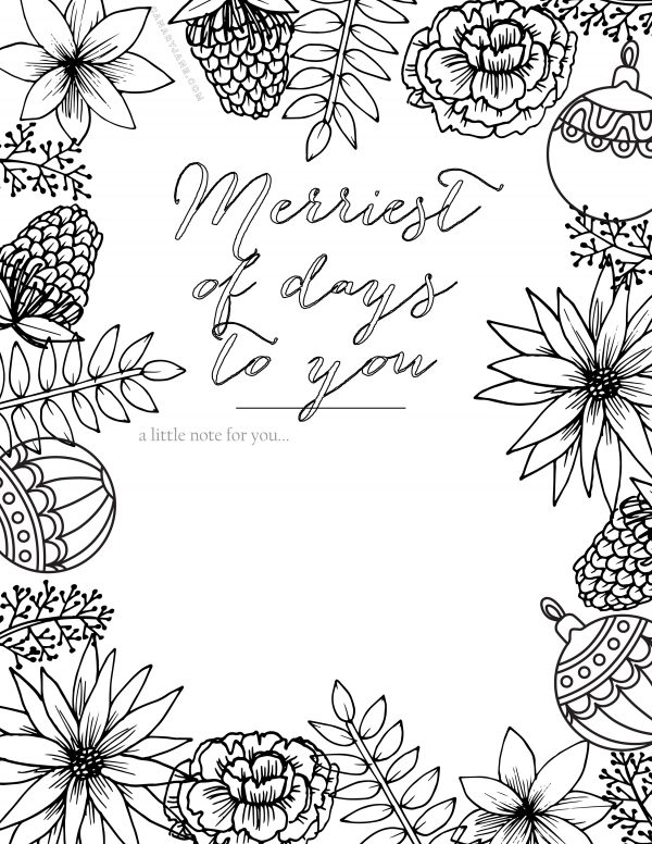 christmas coloring pages and printables | printable coloring pages | holiday coloring pages | holiday printables | christmas coloring pages || Design Dazzle #coloringpages #freeprintables #holidaycoloringpages