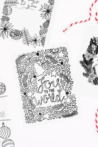 Free Christmas Coloring Pages & Printables