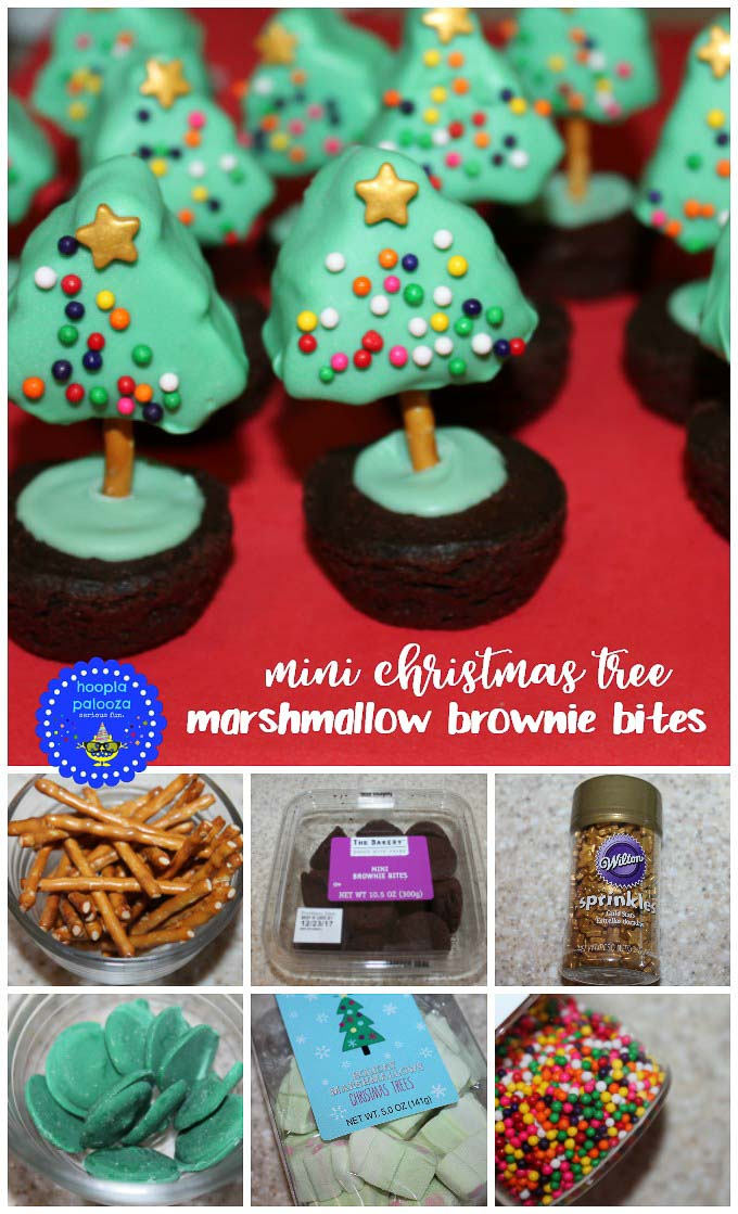 Today is a good day to make some delicious and easy to make Christmas treats like these mini christmas tree marshmallow brownie bites!