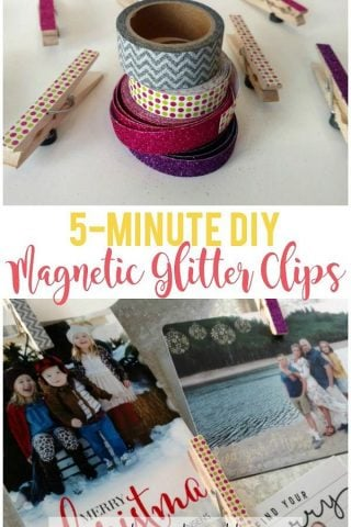 5-Minute DIY Magnetic Glitter Clips