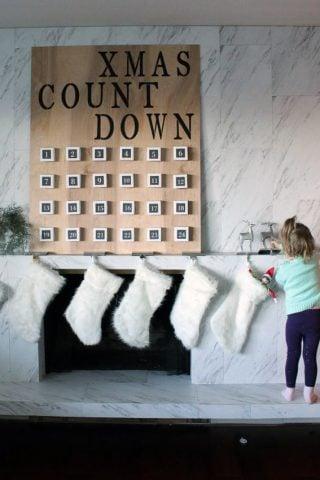 DIY Giant Christmas Advent Calendar