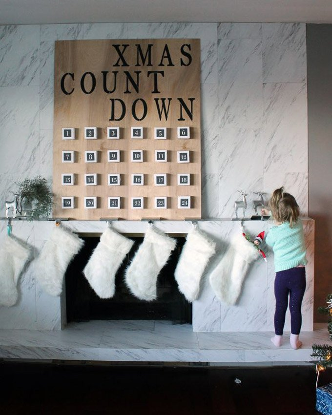 Giant Advent Calendar Ideas : Diy giant christmas advent calendar design dazzle