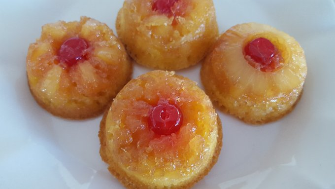 These upside down Pineapple Cupcakes are so yummy! Not your typical Holiday treat but I am hoping it soon will become a family favorite.