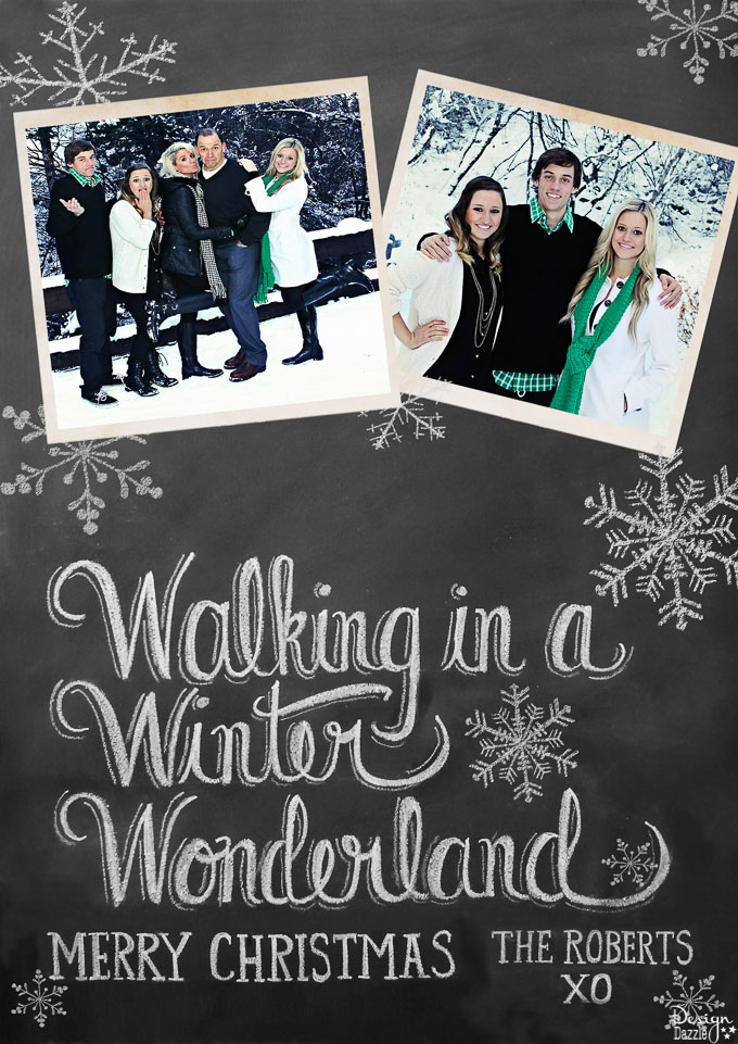 Sending you Christmas greetings from my family to yours! Our card theme this year is It's a Wonderful Life! That is how I feel when I think of my many blessings!   Design Dazzle