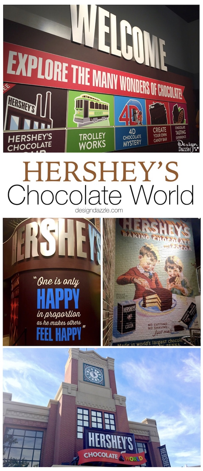 We made a stop in the town of Hershey, Pennsylvania. After visiting Hershey's Chocolate World, I'm convinced this is definitely the sweetest place on earth! | Design Dazzle