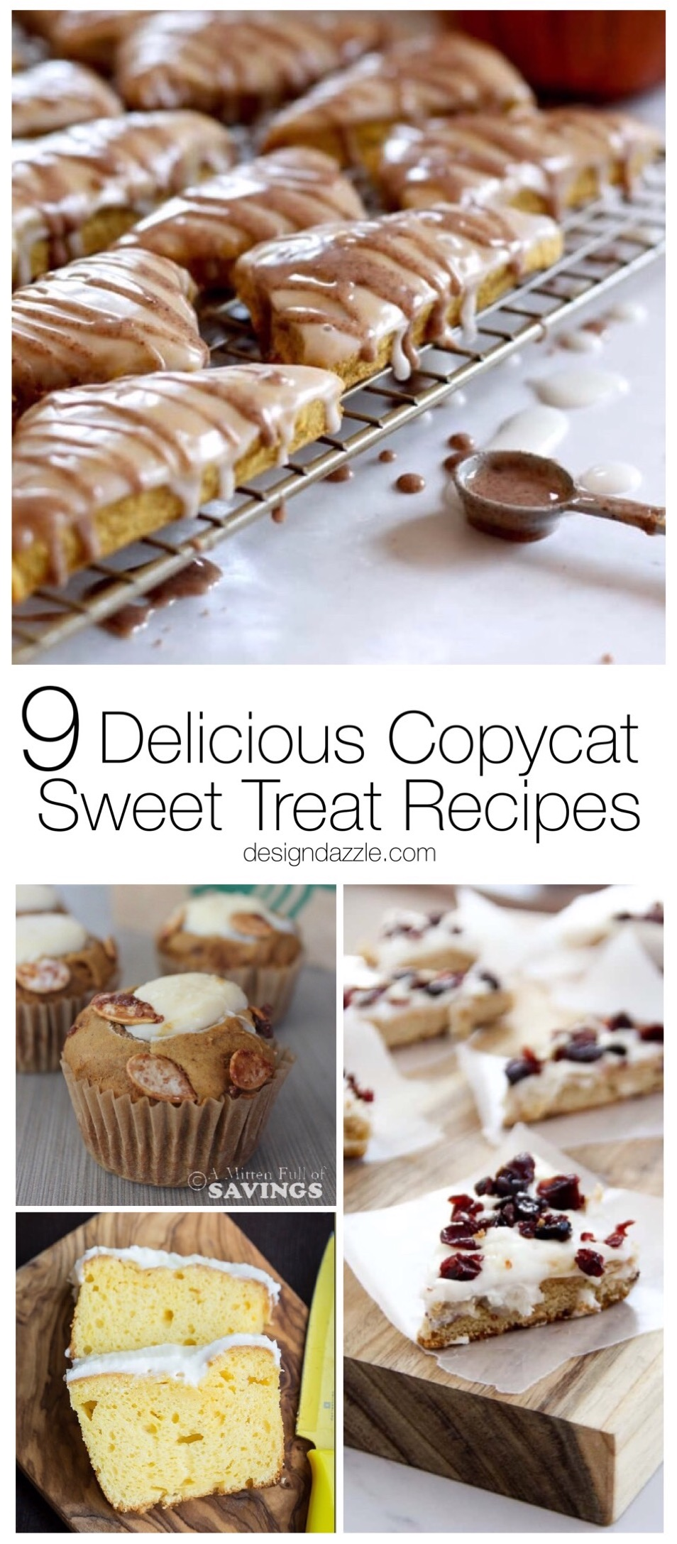 If you have a sweet tooth but don't always want to leave the house to get what you want then these 9 delicious copycat sweet treat recipes are for you! | Design Dazzle