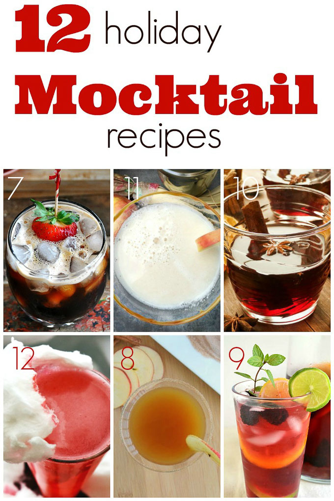 These delicious 12 Merry Making Mocktail Recipes are going to help make your New Year's Eve bash a huge success! Here's to ringing in the New Year! | Design Dazzle
