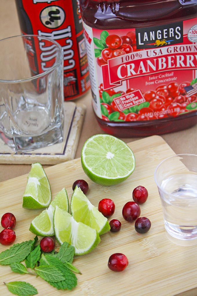 Cranberry and Ginger Beer Mistletoe Mojito