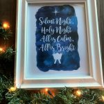 Silent Night Free Christmas Printable