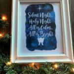 Silent Night Free Christmas Printable