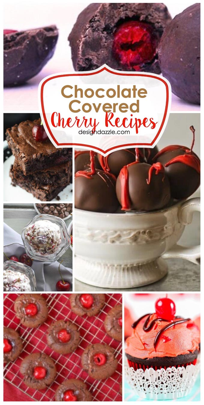 These 8 chocolate covered cherry recipes are delicious, decadent, and perfect for Valentine's Day! | Design Dazzle