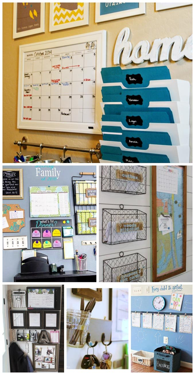 These 25 awesome command centers to organize your life will leave you feeling ready to tackle the day with vigor in no time! Organization Ideas, DIY, and Hacks for your home at Design Dazzle!| Design Dazzle
