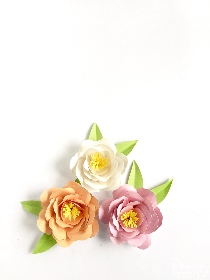 How to make Paper Peonies! Free Template for DIY Paper Peonies at Designdazzle.com