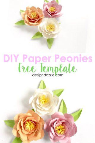 DIY Paper Peonies- Free Template