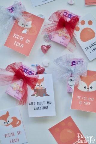 Adorable Foxy Valentines- Free Printable