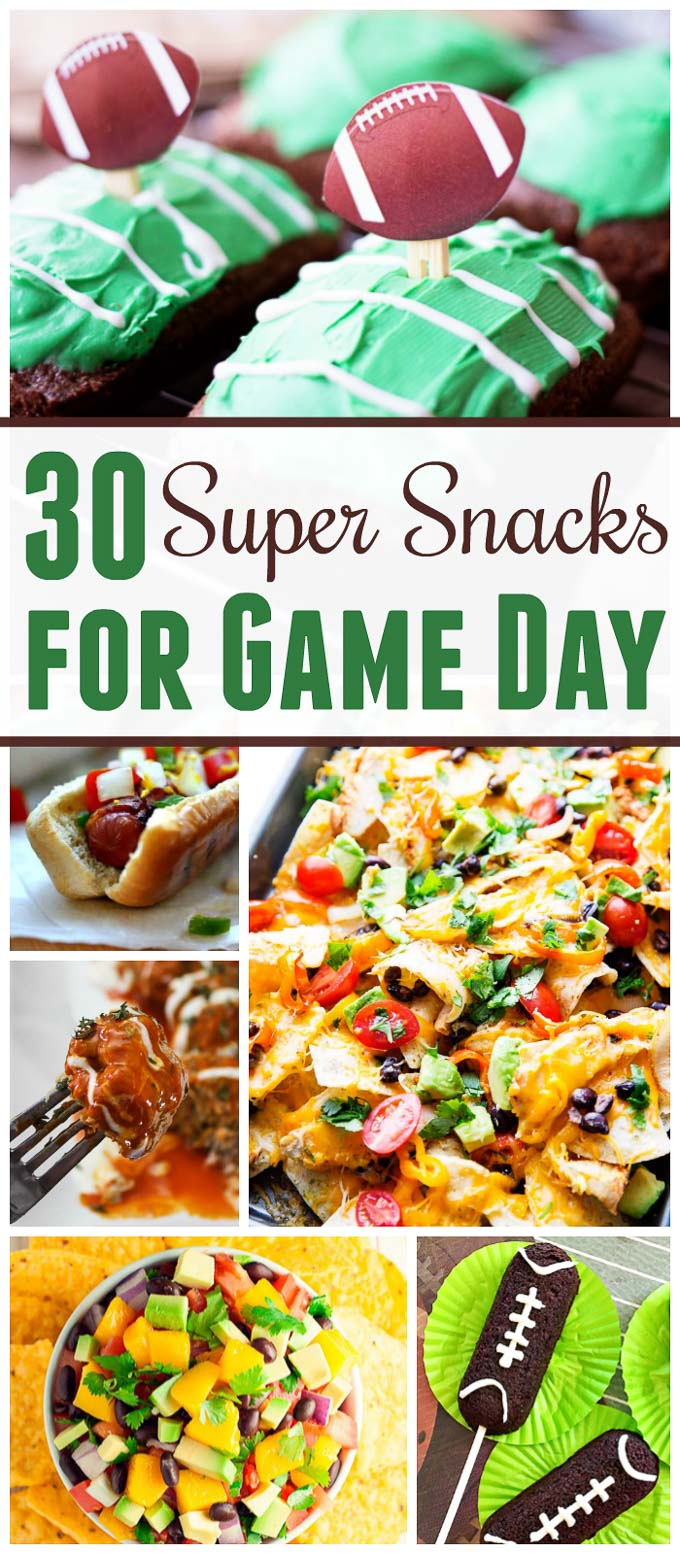 Need awesome Super Bowl food ideas? I assure you that these 30 Super Bowl food ideas are some of the best football food ideas that you will find all year! | Design Dazzle
