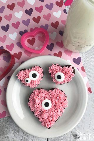 Monster Heart Brownies