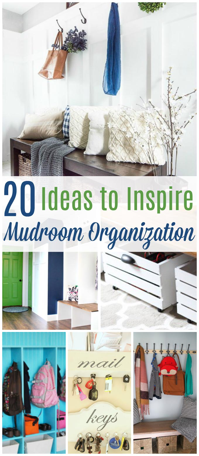 These 20 genius mudroom organization ideas will show you the best ideas to get your mudroom exactly how you want it- and fast! | Design Dazzle
