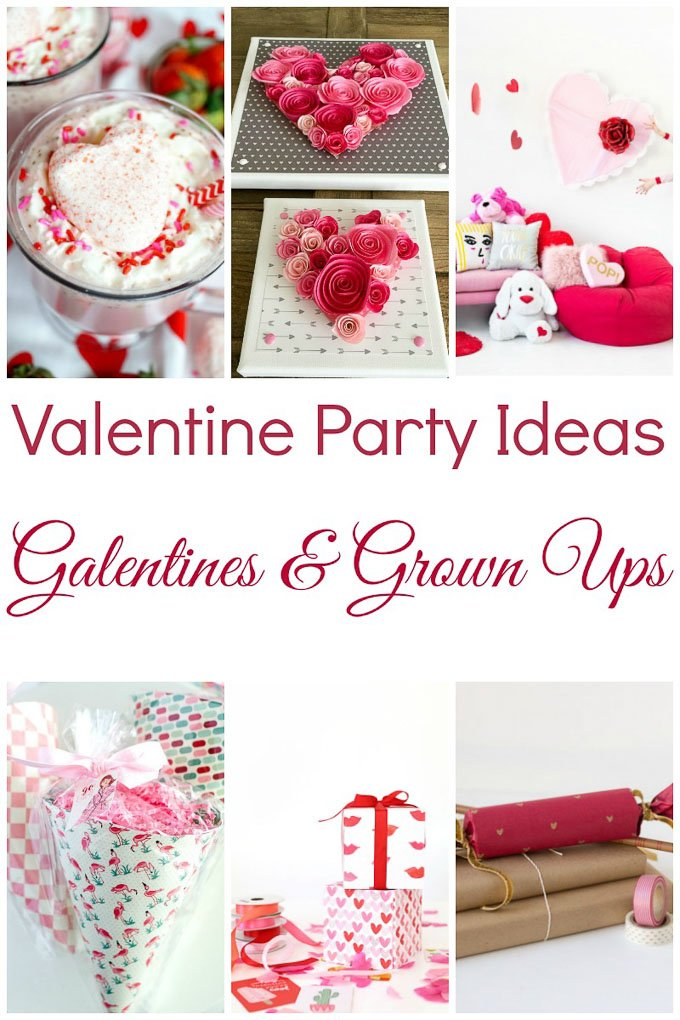 With DIY ideas, slumber parties, food, bouquets, etc, these Valentine's Day Party Ideas for Galentines & Grown Ups are sure to inspire! | Design Dazzle