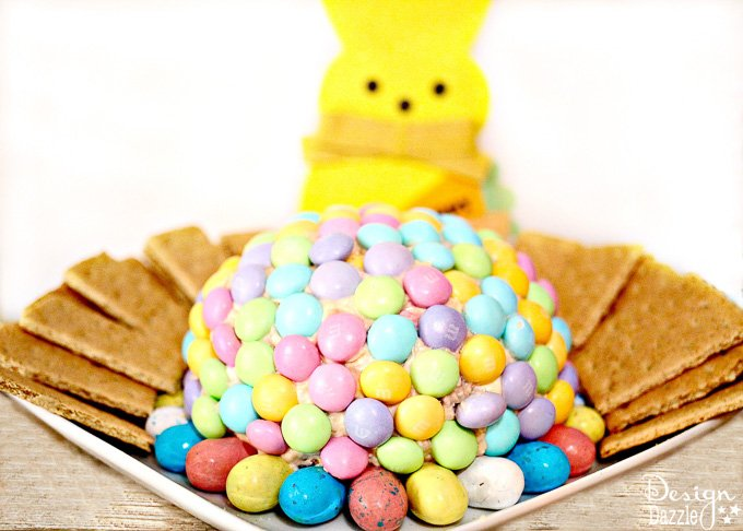 If you are a fan of cream cheese (who isn't?) and chocolate then you will love this decadent treat! Find the recipe and instructions to this delicious Easter Cream Cheese Ball below! | Design Dazzle