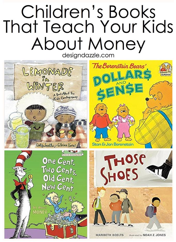 Here are 15 awesome, fun, and educational children's books that teach your kids important and useful information about money! | Design Dazzle