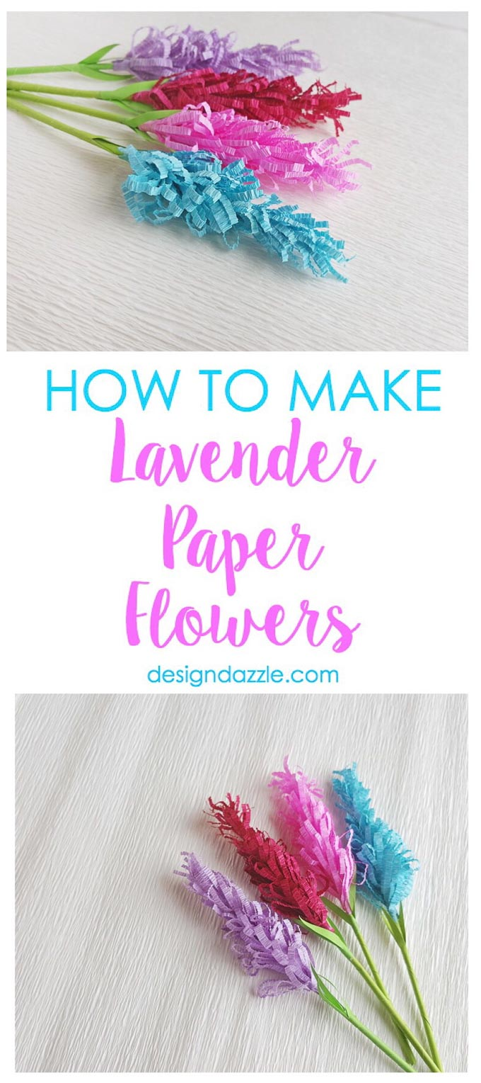 Lavender Paper Flowers Free Template Design Dazzle