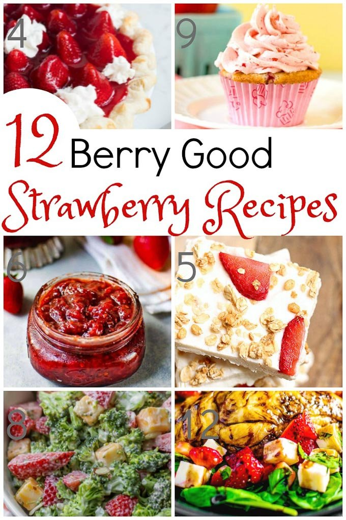From Strawberry Guacamole, to Strawberry Chili Relish, to Strawberry Cupcakes, there is decidedly something on this delicious strawberry recipes list for everyone! | Design Dazzle