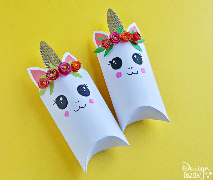 Adorable Unicorn Favor Box- Free Template!