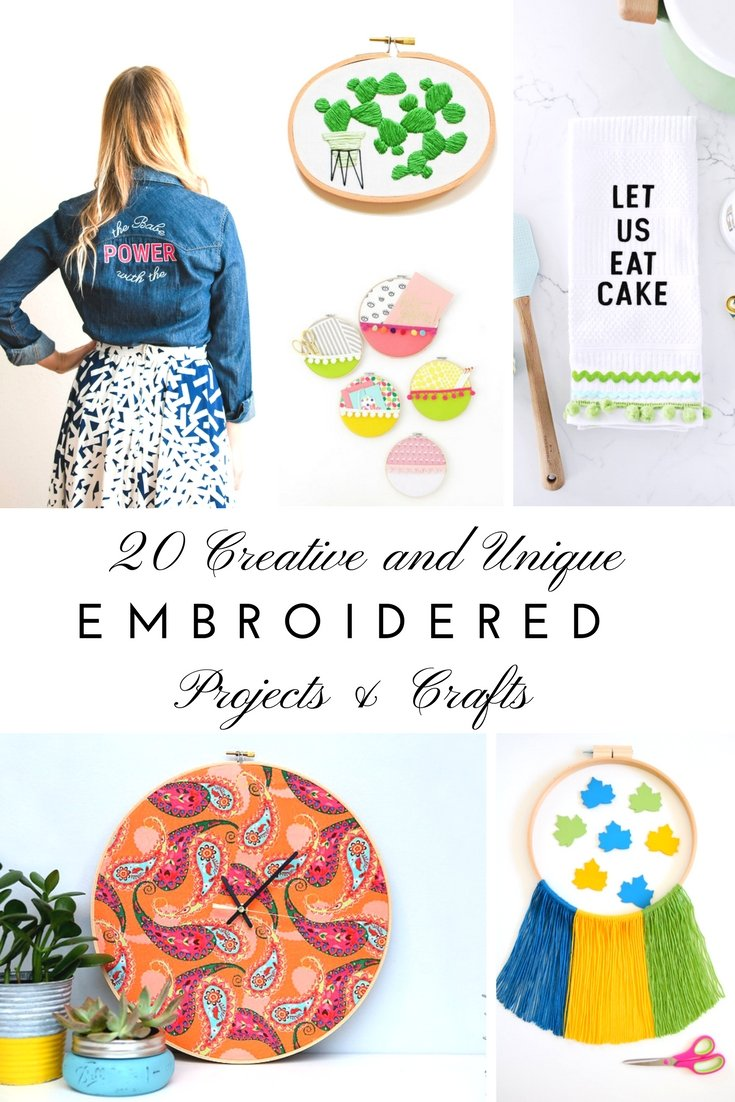If you're into embroidery (or even if you're not) these fun, beautiful embroidered crafts and projects will definitely thrill you and draw you in! Check them out!
