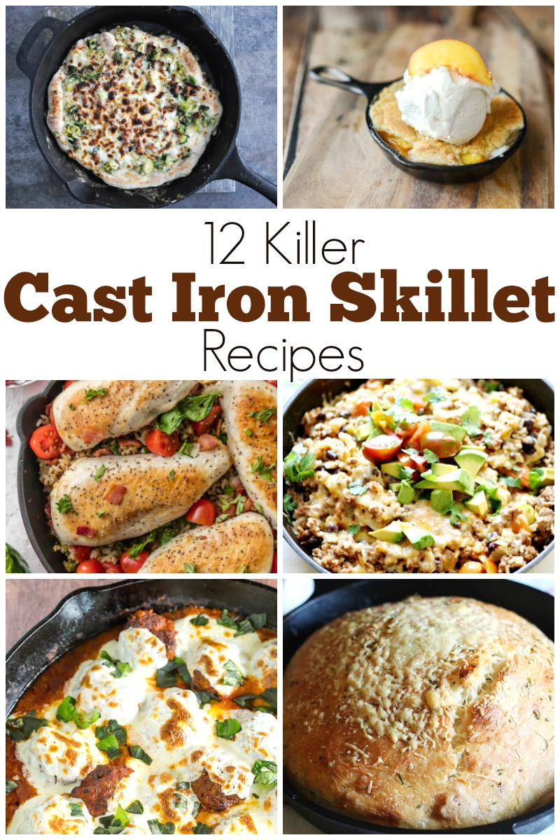 From skillet pizza, to skillet cobbler and even skillet bread, you are definitely going to want to get out that skillet and prepare to amaze your friends and family with any one, or all, of these 12 Killer Cast Iron Skillet Recipes! | Design Dazzle