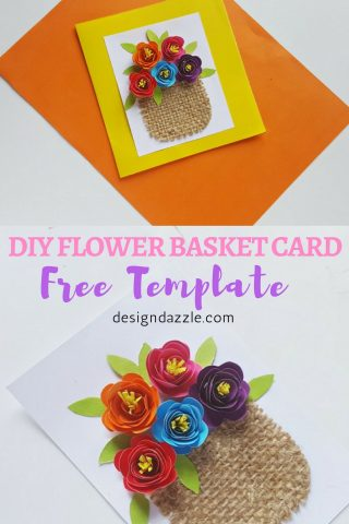 This flower basket card is so beautiful and easy to make. It's a perfect card to make for Mother's Day! I love that it has that beautiful and sweet appeal. - Design Dazzle