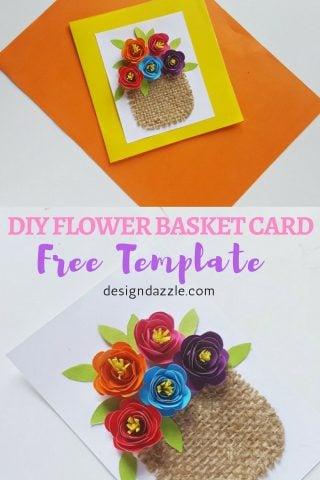 DIY Flower Basket Card