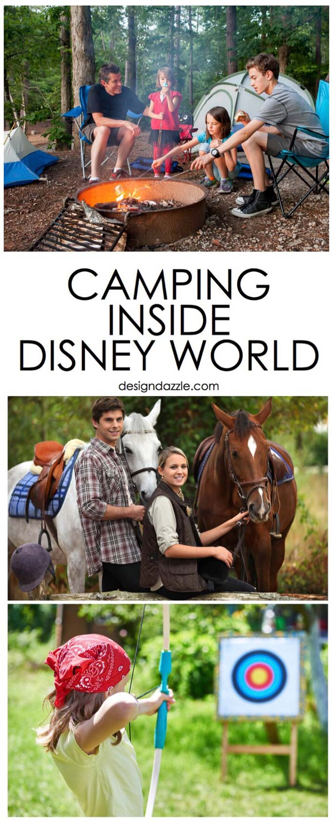 Did you know that Disney World is a hot spot for camping? Disney's Fort Wilderness Campground is fun for the whole family. Read more and find out how to camp in Disney World!   Design Dazzle
