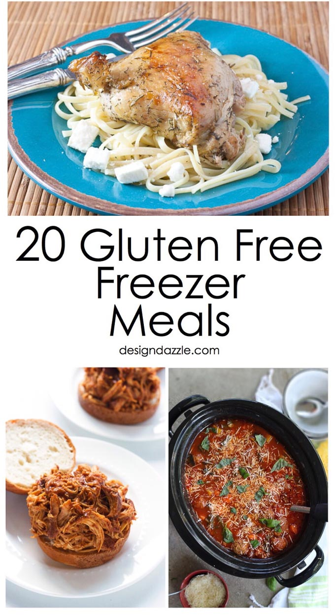 Are you looking for something quick you can make on those busy nights? These 20 Gluten Free Freezer Meals are not just delicious, but so easy to make! | Design Dazzle