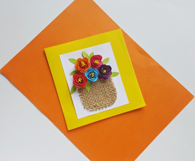 This flower basket card is so beautiful and easy to make, you'll want to make one for each of for your family and friends! I love that it has that Spring vibe to it and it shows in the vibrant colors used for the flowers. What a great creative project to welcome the new season!