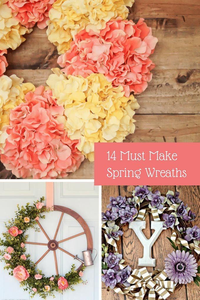 From an adorable umbrella wreath or a wagon wheel wreath, we've got it all! Scroll down to find a plethora of gorgeous spring wreaths. | Design Dazzle