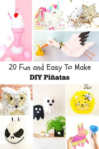 20 Fun and Easy to Make DIY Pinatas