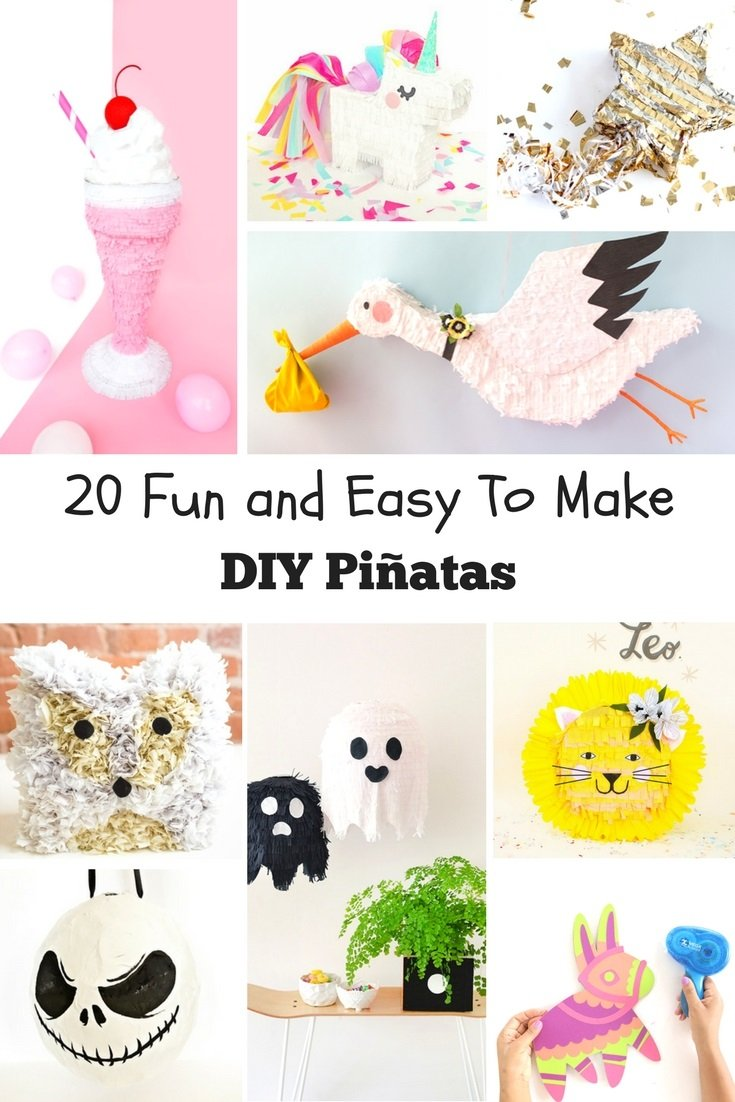 Hosting a party? You definitely need a pinata to make the event so much fun and exciting for all your guests! Here are 20 fun and quick to make DIY pinatas we've collected just for you!