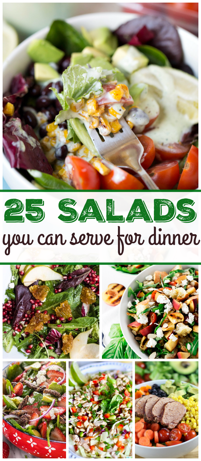 Wow your guests with these 25 salads for dinner that are quick and easy to make and super yummy! | Design Dazzle