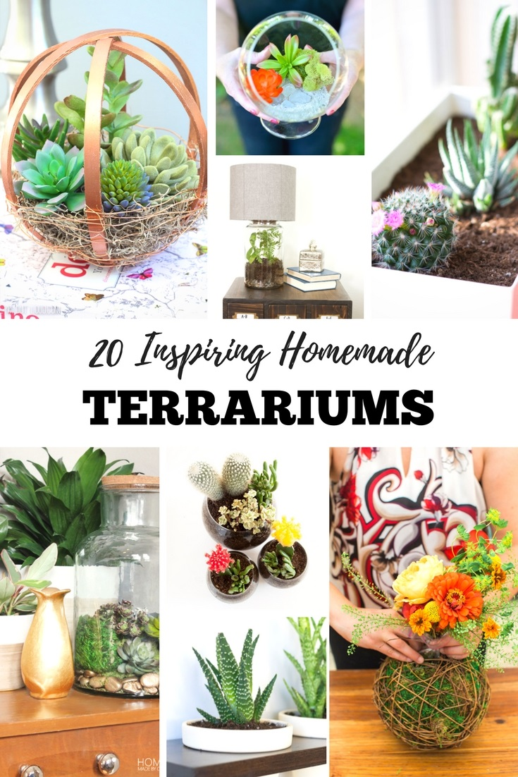 These homemade terrariums will definitely add character to any spot in your home both indoors and outdoors! They are beautiful and unique, and can start nice conversations with family, friends, and guests.