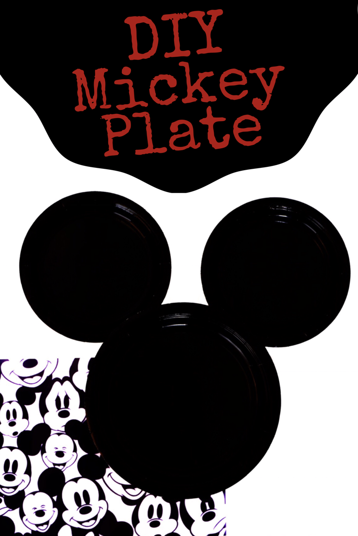 This DIY Mickey Mouse Plate project is super quick and easy to make. It's a great idea for your Disney or Mickey Mouse themed party. It's even a cute decor idea!#disney #mickeymouse| Design Dazzle