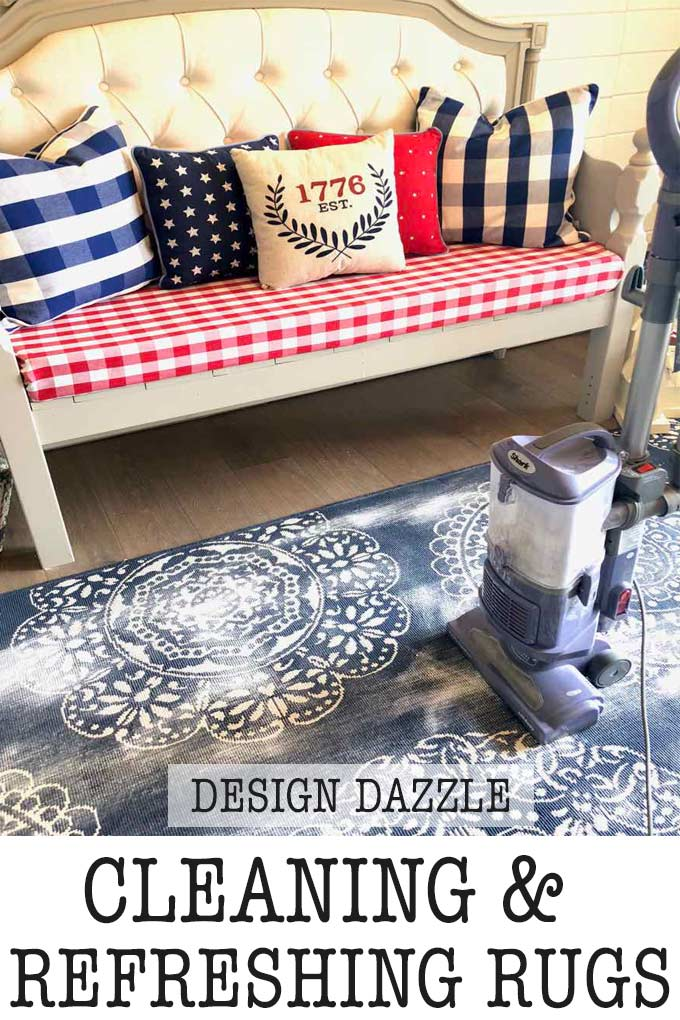 How to clean rugs for clean living! Keep your home clean year-round! | Design Dazzle #cleanliving #rugs #cleaningrugs #summercleaning #armandhammer #ad