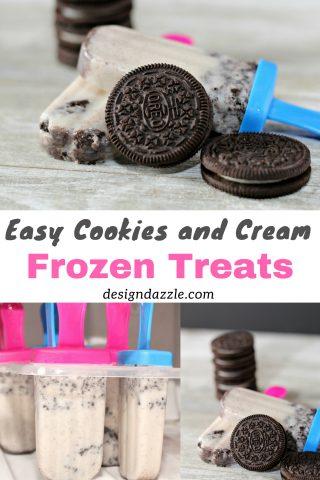 Easy Cookies and Cream Frozen Treats
