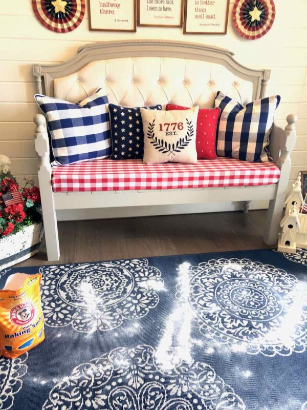 Is there anything more lovely than your home smelling fresh and clean? I've been getting ready for summer and I'm sharing my tips on how to clean rugs! Getting ready for summer. A clean home is a happy home! #summercleaning #Arm&Hammer