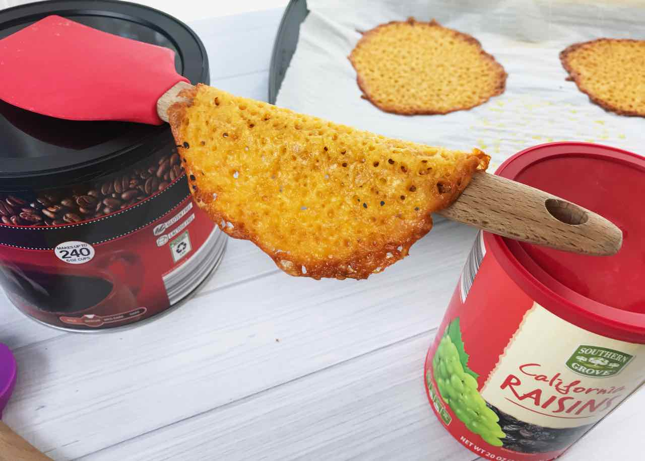 These cheese taco shells are a unique way to serve something with a Mexican feel. The creative twist of using cheese for making the taco is the fun part! - Design Dazzle