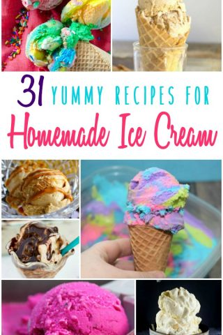 31 Yummy Recipes for Homemade Ice Cream
