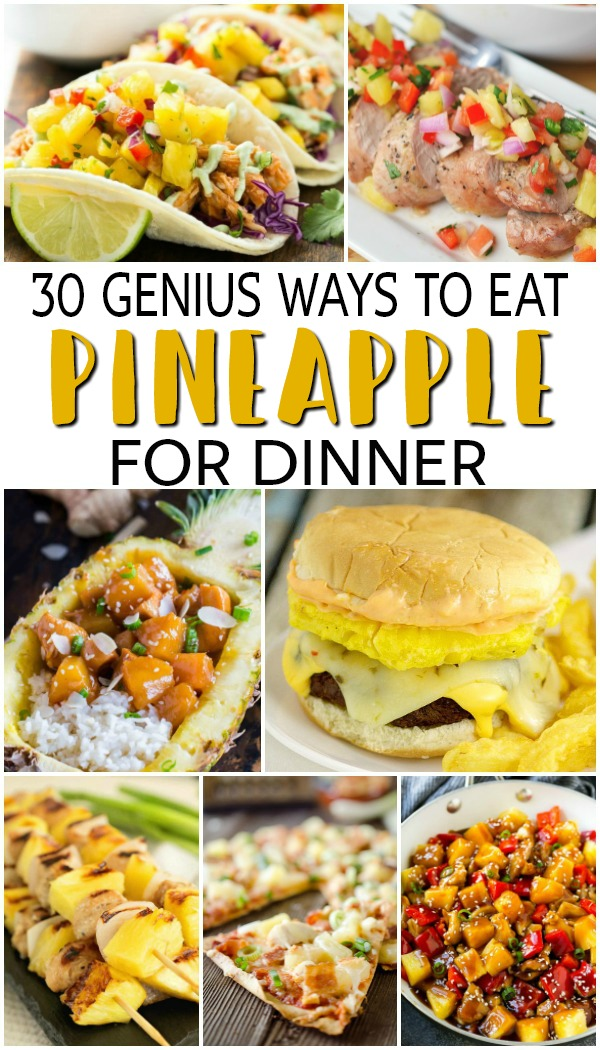 These pineapple dinner recipes will definitely leave you drooling and asking for more! Pineapples are such a nice, versatile ingredient which you can use in many savory dishes. So here we give you genius ways to use pineapple in your evening feasts!