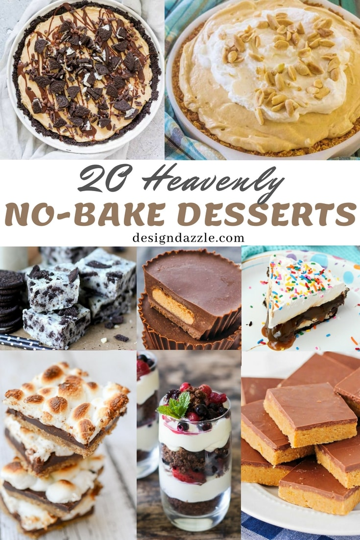 These delectable no bake desserts are so heavenly you'll keep asking for more. They're so addictive that you might think of NOT using your oven anymore! LOL! - DEsign Dazzle